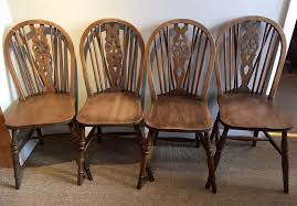 Set Of 4 Victorian Wheelback Beech Chairs | Living Room ...