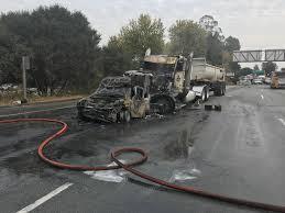 100 Truck Rental Santa Cruz 14 Injured As Bigrig Crash And Fire Shuts Down Highway 1 In