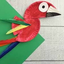 Parrot Paper Plate Craft For Kids