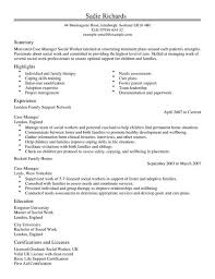 Case Manager CV Template