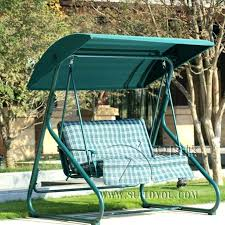Garden Swing Bench Canopy 2 Metal Swing Hammock Chair Bench