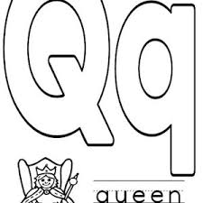 Preschool Kids Learn Capital Letter Q Coloring Page