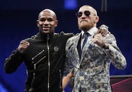 When Floyd Mayweather L Defeated Conor McGregor R MMA