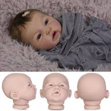 Reborn Doll Kits Unpainted Soft Vinyl Head 34 Arms Full Legs Mold