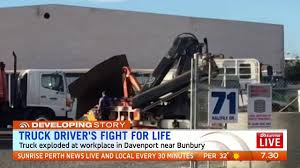 WA Truck Driver Fighting For Life After Explosion | The West Australian