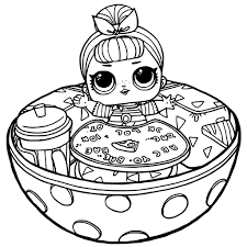 Creative Free Printable Lol Surprise Dolls Coloring Pages With Extraordinary Doll