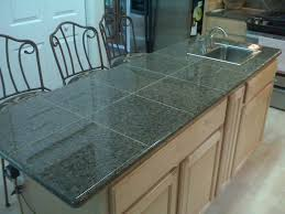 appliances glossy granite tile countertops with iron chairs also