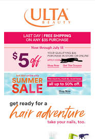 Ulta, $5 Off $25 Coupon Plus $35 Free Shipping. Check Your Email ... Ulta Cyber Monday Sale Free 22piece Gift Advent Calendar On Free 10 Pc Lip Sampler With Any 75 Online Purchase 21 Days What I Just Bought At Ulta 3 By Linda Issuu Why Do So Many Coupon Sites Post Expired Promo Codes Hokivin Mens Long Sleeve Hoodie For 11 Ulta Beauty Coupons 100 Workingdaily Update September 2018 Cultures Health Coupons 20 Off Everything Coupon Is Having A Major Sale Before Black Friday 76 Items Under 5 Clearance Sale Get Shipping On Your Purchase Limit One Use Per Customer