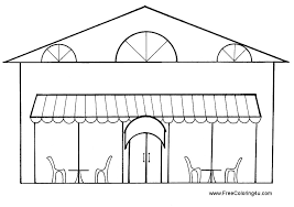 Restaurant Coloring Sheets Free