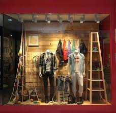 Retail Store Window Display Mens Clothing And Accessories