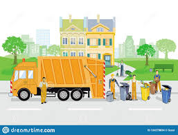 Garbage Truck With Failures And Garbage Stock Illustration ...