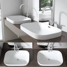 design einbauwaschbecken brüssel5082 aus keramik eckige