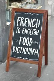 FrenchEnglish Food Dictionary Chocolate Zucchini