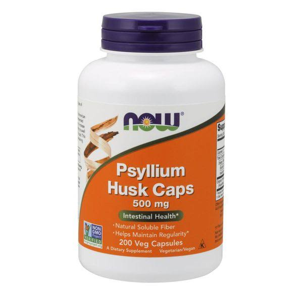 Now Foods Psyllium Husk Caps - 500mg, x200