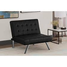 Broyhill Emily Sofa Navy by Dhp Emily Chair Black Faux Leather Walmart Com