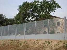 mur anti bruit avec panneau modulaire en polycarbonate pour