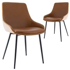 Tan Lance Faux Leather Dining Chairs (Set Of 2) 100 Ding Chair Australia Chairs Tulip Fenton Leather Modern Parsons Midback Chocolate Faux Set Of 2 Zoe Scoop Back Chairs Neo Bronze Pack Costco Uk Espen X 12th Floor Room Extravagant Your House Newcastle Worlds Away Eichholtz In 2019 Cafe Koltuk White Teak Brown Herman Miller