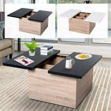 100 Living Room Table Modern Details About Storage Coffee With Sliding Top MDF Chipboard