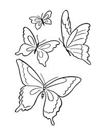 Butterfly Four Butterflies Flying On The Park Coloring Page