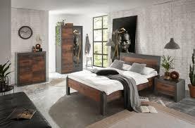 home affaire schlafzimmer set set einzelbett mit holzkopfteil nachtkommode kleiderschrank 2 trg kommode in dekorativer rahmenoptik