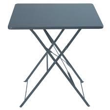 table de jardin pliante en métal gris 2 personnes l70 guinguette