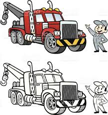 100 Tow Truck Vector Best Free Cartoon Drawing