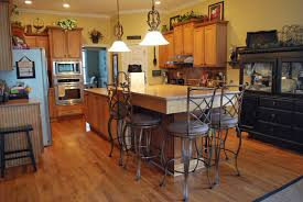 Kitchen Classic Decor Ideas With Vintage Marble Countertop Large Island And Iron