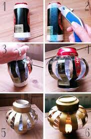 How To Make Beautiful Candle Jars With Aluminium Cans Step By DIY Tutorial Instructions
