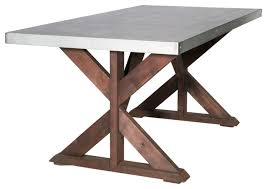 Zinc Topped Dining Table Uk Care Abbott Top Rectangular Fixed Reviews Rustic Sand Industrial Tables