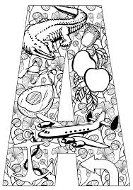 Printable Letter Coloring Pages
