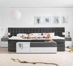 familienbett lund 240 x 200 cm schwarz segmüller