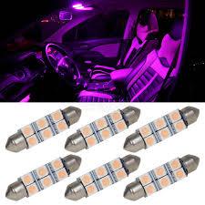 100 Interior Truck Lighting Car Light Bulbs 6pcs Pink Purple 41mm 42mm Festoon