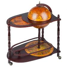 Globe Liquor Cabinet Antique by World Extended Shelf Italian Replica Globe Bar Cart Sj33035