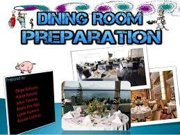 Dining Room Preparation