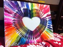 Heart Crayon And Art Image