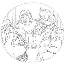 Acts Pauls First Journey Paul And Barnabas Mistaken For Gods Coloring Page