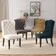 Furniture Of America Telara Tufted Wingback Dining Chair Set 2