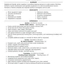 Resume Examples For Janitorial Position 24 Fresh Sample Custodian Resumes Best Solutions Janitor Of