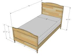 Lovely Twin Size Bed Frame Dimensions Twin Bed Frame Measurements