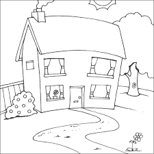 Amazing House Coloring Pages 26 For Your Adults With
