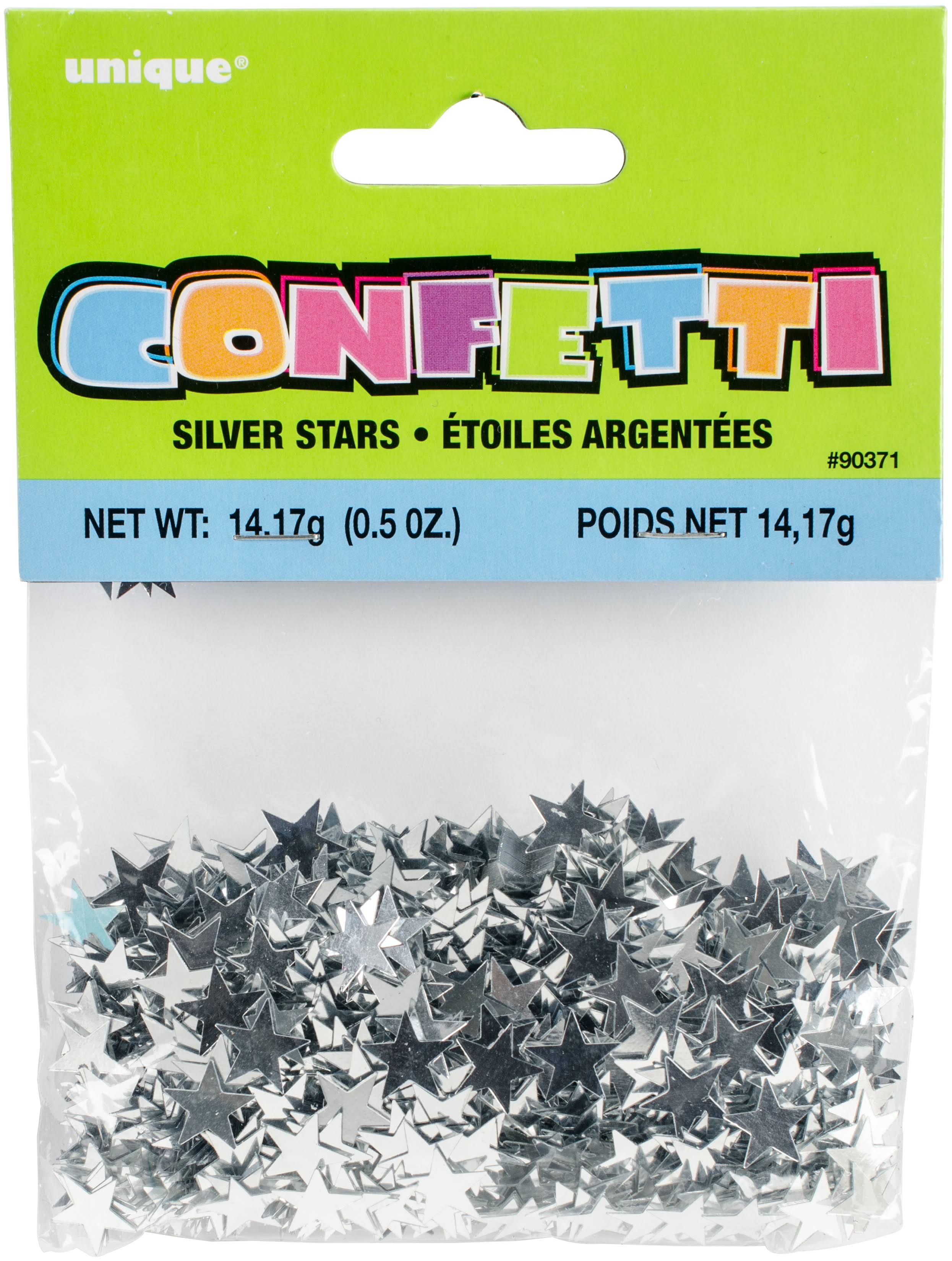 Unique Metallic Star Confetti - Silver