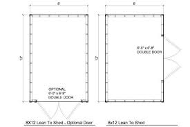 free 8x12 shed plans materials list