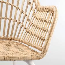 nilsove armchair rattan white