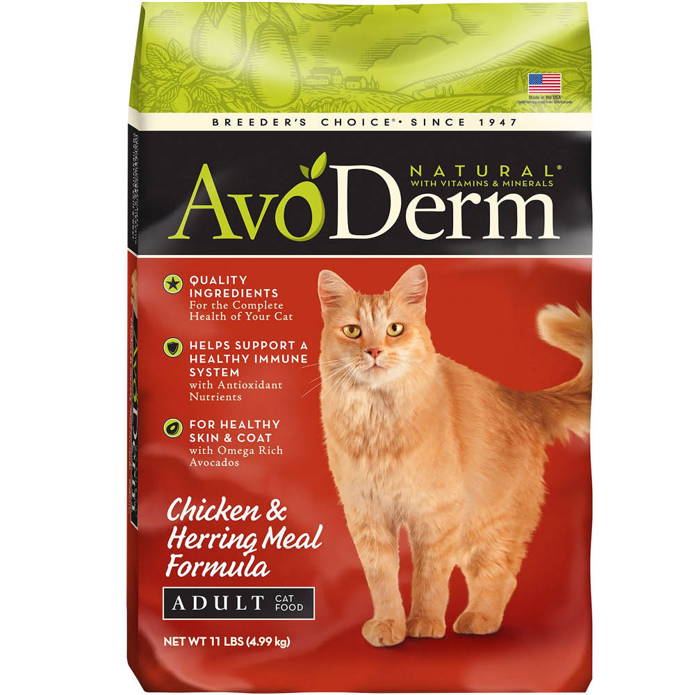 AvoDerm Natural Adult Cat Food - Chicken and Herring Meal, 11lbs