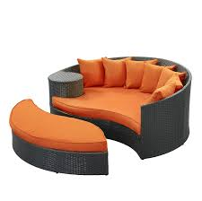 Amazon Patio Lounge Cushions by Amazon Com Modway Taiji Outdoor Wicker Patio Daybed With Ottoman