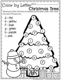 Christmas Tree Books For Kindergarten by Color By Letter Christmas Tree Free Printable Worksheet Free