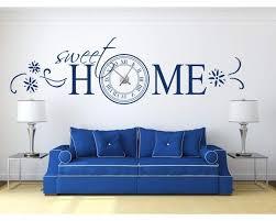 wandtattoo uhr sweet home 76033