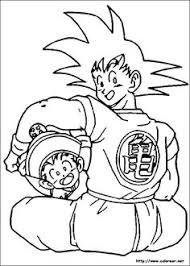 Dragon Ball Anime Goku And Gohan Coloring Pages For Kids Printable Free