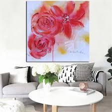 nlznkzj hd print aquarell minimalistischen roten künstler