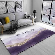 wishstar nordic luxus grau lila gold teppich mädchen zimmer